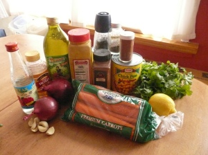 chickpea tagine - ingredients