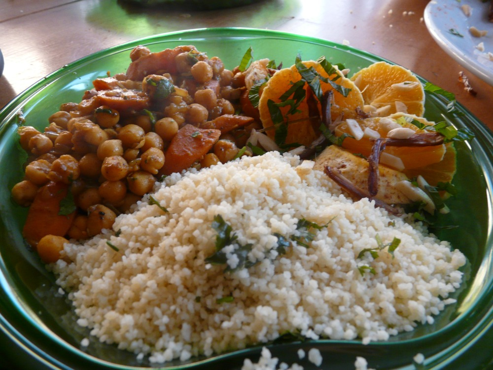 chickpea tagine plate