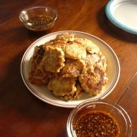 Gamjajeon - Korean Kimchi Potato Pancakes - 김치 감자전