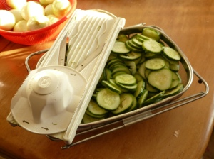 pickles - cucumbers with mandoline