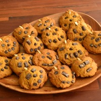 Marci's Jack O' Lantern Pumpkin Chocolate Chip Cookies