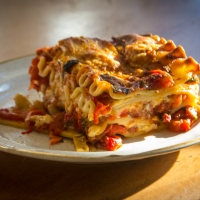Family Favorite: Roasted Red Pepper Lasagna