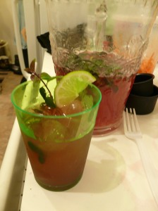 Cranberry Mojitos