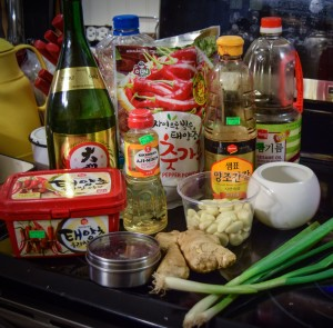 Korean Spicy Pork - Sauce Ingredients