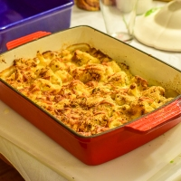 Hungarian Baked Cauliflower with Swiss Cheese - Rakkot Karfiol