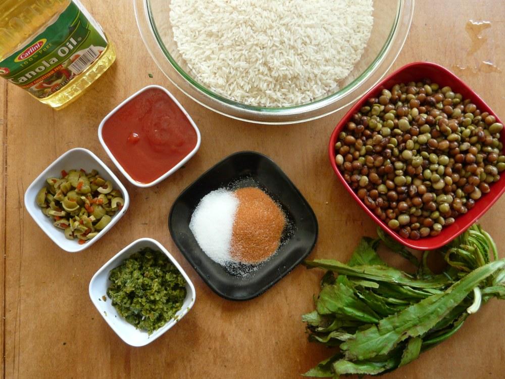 Arroz con Gandules Measured Ingredients