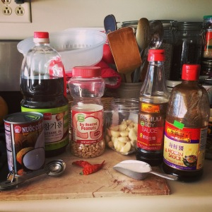 Cambodian Peanut Sauce Ingredients