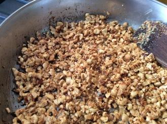 Adding Chopped Peanuts