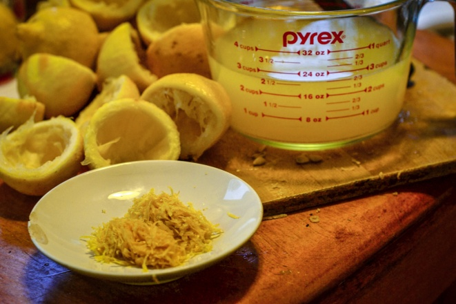 grated lemon peel