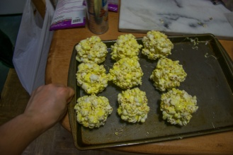 finished popcorn balls