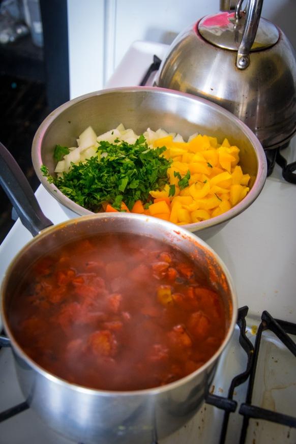 Broth & veggie rice mix