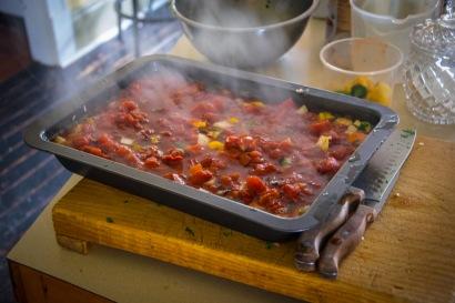 Veggie rice & tomato broth