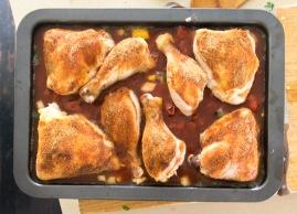 chicken & rice with veggie broth