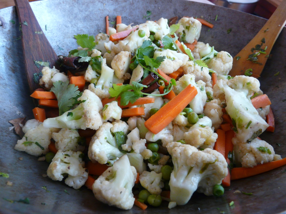 Cauliflower & Carrots with Whole Spices