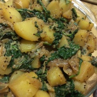 Spinach & Potato Curry - Saag Aloo