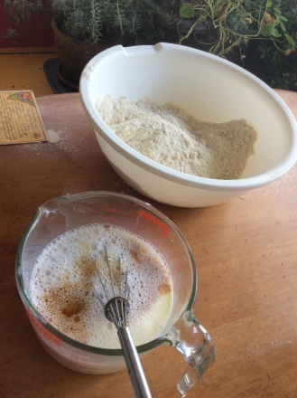 Great Lakes Coffee Cake - Dry and Wet Ingredients for Batter