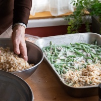 Green Bean Casserole with Mushroom Cream Gravy