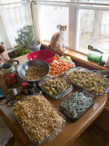 Prepped Thanksgiving Sides (casseroles and veggies)